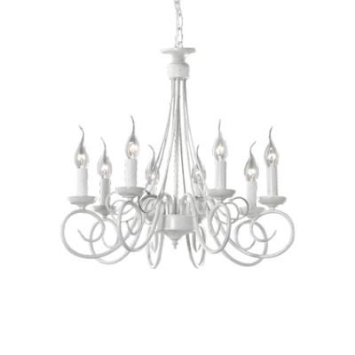 Ideal Lux - Middle Ages - BRANDY SP8 - Pendant lamp - Antique white - LS-IL-066639