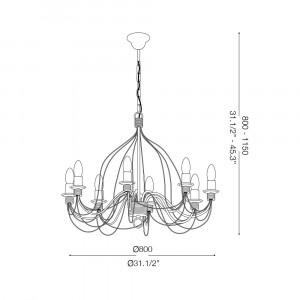 Ideal Lux - Middle Ages - CORTE SP5 - Pendant lamp