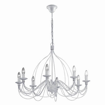 Ideal Lux - Middle Ages - CORTE SP8 - Pendant lamp - Antique white - LS-IL-005898