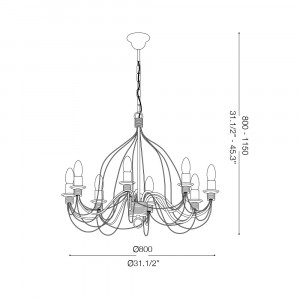 Ideal Lux - Middle Ages - CORTE SP8 - Pendant lamp