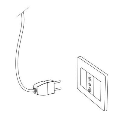 Ideal Lux - Organza - DUCHESSA TL1 BIG - Bedside lamp