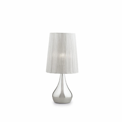 Ideal Lux - Organza - ETERNITY TL1 SMALL - Table lamp - Silver - LS-IL-035987