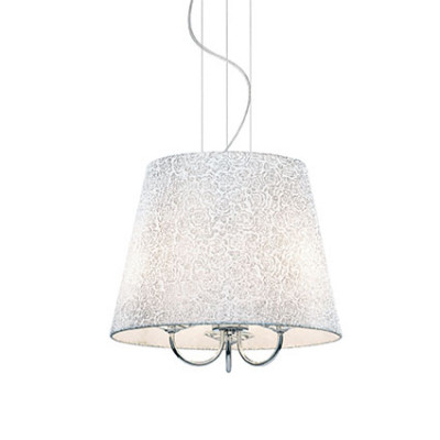 Ideal Lux - Organza - LE ROY SP3 - Pendant lamp - Chrome - LS-IL-079387