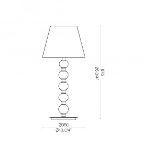 Ideal Lux - Organza - LE ROY TL1 BIG - Table lamp