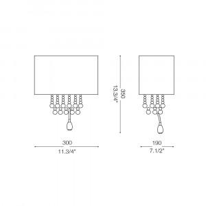 Ideal Lux - Organza - OPERA AP3 - Applique