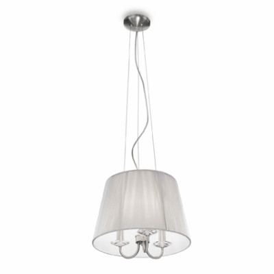 Ideal Lux - Organza - PARIS SP3 - Pendant lamp - Silver - LS-IL-018010