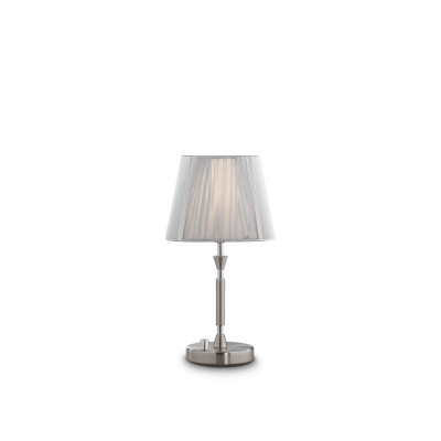 Ideal Lux - Organza - PARIS TL1 SMALL - Table lamp - Silver - LS-IL-015965