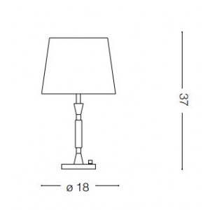 Ideal Lux - Organza - PARIS TL1 SMALL - Table lamp