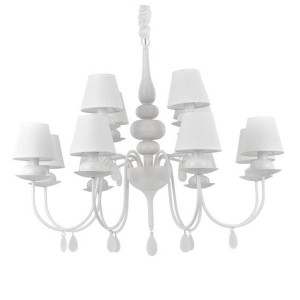 Ideal Lux - Provence - Blanche SP12 - Classic chandelier with twelve lampshades