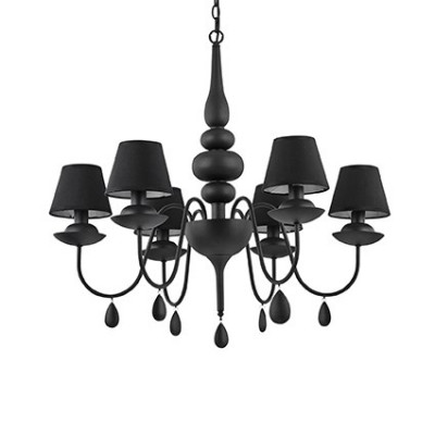 Ideal Lux - Provence - BLANCHE SP6 - Pendant lamp - Black - LS-IL-111872