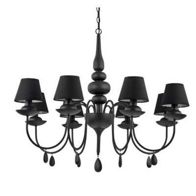 Ideal Lux - Provence - BLANCHE SP8 - Pendant lamp - Black - LS-IL-111896