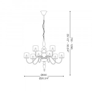 Ideal Lux - Provence - DUCA SP9 - Pendant lamp