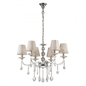 Ideal Lux - Provence - Pantheon SP6 - Applique with six lights with decorated lampshades