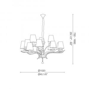Ideal Lux - Provence - PEGASO SP12 - Pendant lamp