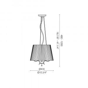 Ideal Lux - Provence - PEGASO SP3 - Pendant lamp