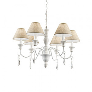 Ideal Lux - Provence - Provence SP6 - Chandelier with fabric lampshades