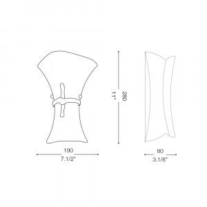 Ideal Lux - Rustic - FIOCCO AP1 SMALL - Applique