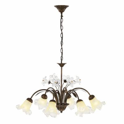 Ideal Lux - Rustic - TIROL SP6 - Pendant lamp - Rust - LS-IL-024486