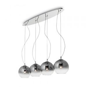 Ideal Lux - Sfera - Discovery Fade SP4 - Pendant lamp - Gradient chrome - LS-IL-149561
