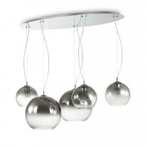 Ideal Lux - Sfera - Discovery Fade SP5 - Pendant lamp - Gradient chrome - LS-IL-138305