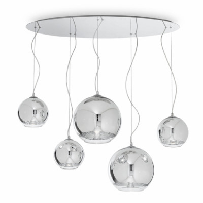 Ideal Lux - Sfera - DISCOVERY SP5 - Five-light suspension lamps - Chrome - LS-IL-059655
