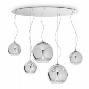 Ideal Lux - Sfera - DISCOVERY SP5 - Five-light suspension lamps - Chrome - LS-IL-059655