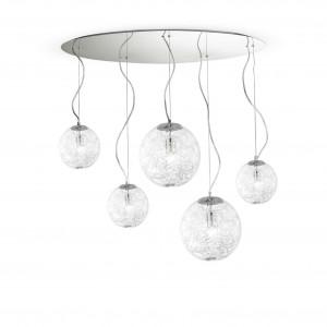 Ideal Lux - Sfera - MAPa Max SP5 - Pendant lamp with 5 diffusers - Aluminium grey - LS-IL-091112