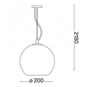 Ideal Lux - Sfera - NEMO SP1 D20 - Pendant lamp