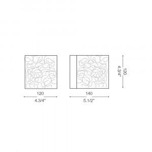 Ideal Lux - Silver - QUADRO AP1 - Applique