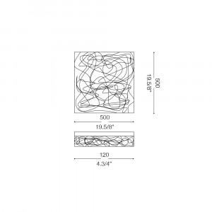 Ideal Lux - Silver - QUADRO PL8 - Ceiling