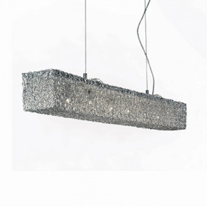 Ideal Lux - Silver - QUADRO SP6 - Pendant lamp