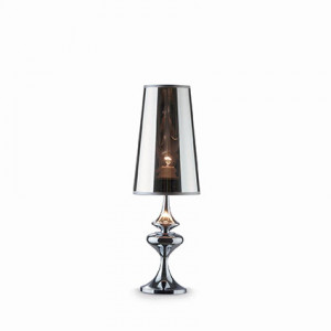 Ideal Lux - Smoke - ALFIERE TL1 SMALL - Bedside lamp - Chrome - LS-IL-032467