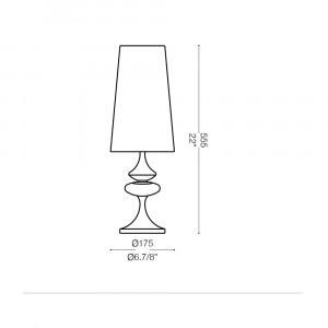 Ideal Lux - Smoke - ALFIERE TL1 SMALL - Bedside lamp