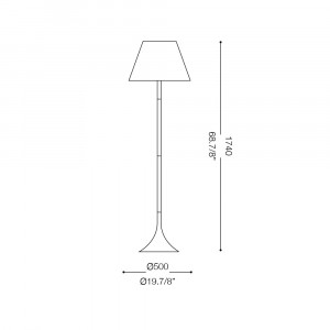 Ideal Lux - Smoke - LONDON PT1 - Floor lamp