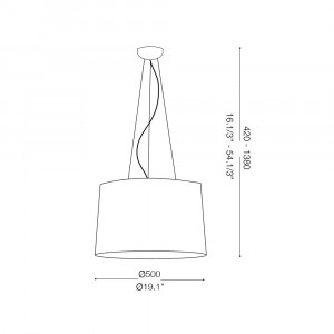 Ideal Lux - Smoke - LONDON SP5 - Pendant lamp