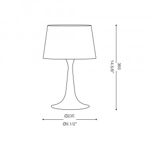 Ideal Lux - Smoke - LONDON TL1 SMALL - Table lamp
