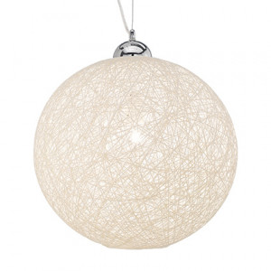 Ideal Lux - Tissue - Basket SP1 D40 - Suspension lamp with cord diffuser