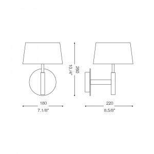 Ideal Lux - Tissue - HILTON AP1 - Applique