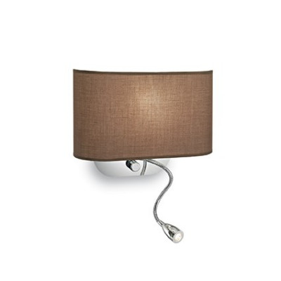 Ideal Lux - Tissue - SHERATON AP2 - Applique - Brown -  - Warm white - 3000 K - Diffused