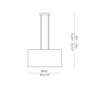 Ideal Lux - Tissue - WHEEL SP3 - Pendant lamp