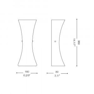 Ideal Lux - Tube - ELICA AP2 - Applique
