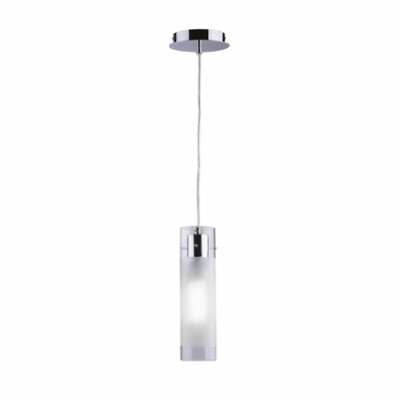 Ideal Lux - Tube - FLAM SP1 SMALL - Pendant lamp - Chrome - LS-IL-027357