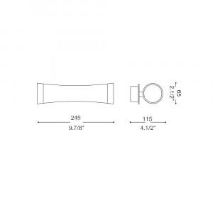 Ideal Lux - Tube - PILA AP1 - Applique
