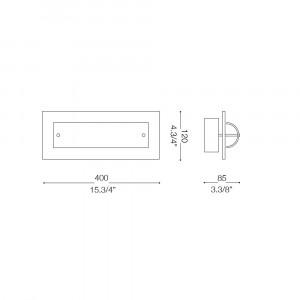 Ideal Lux - Tube - TUDOR AP2 - Wall/ceiling lamp