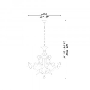 Ideal Lux - Venice - CA' D'ORO SP5 - Pendant lamp