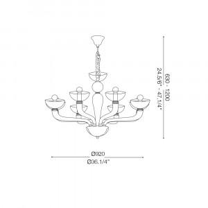 Ideal Lux - Venice - CASANOVA SP8 - Pendant lamp