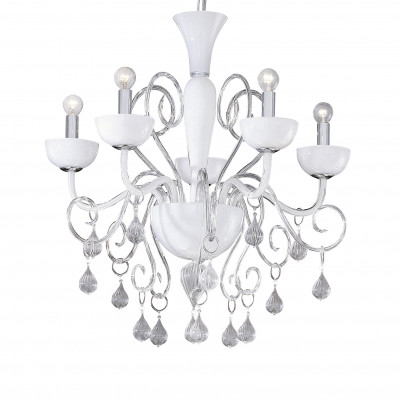 Ideal Lux - Venice - LILLY SP5 - Pendant lamp - White - LS-IL-022789