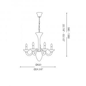 Ideal Lux - Venice - WHITE LADY SP5 - Pendant lamp