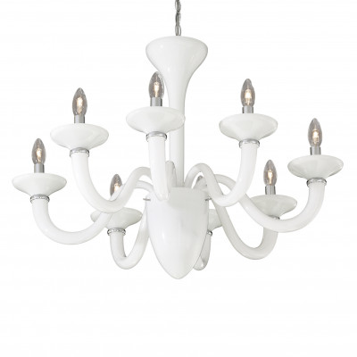 Ideal Lux - Venice - WHITE LADY SP8 - Pendant lamp - White - LS-IL-019390