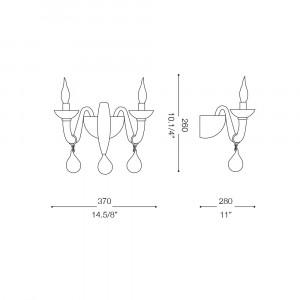 Ideal Lux - Venice - WINDSOR AP2 - Applique